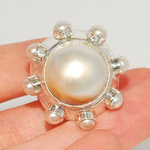 Sterling Silver, Mabe Pearl Ring