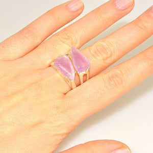 Sterling Silver Amethyst Duet Ring