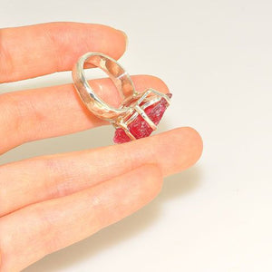 Sterling Silver Rough Rhodonite Ring