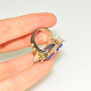 Sterling Silver Carved Lapis Lazuli Horse Ring