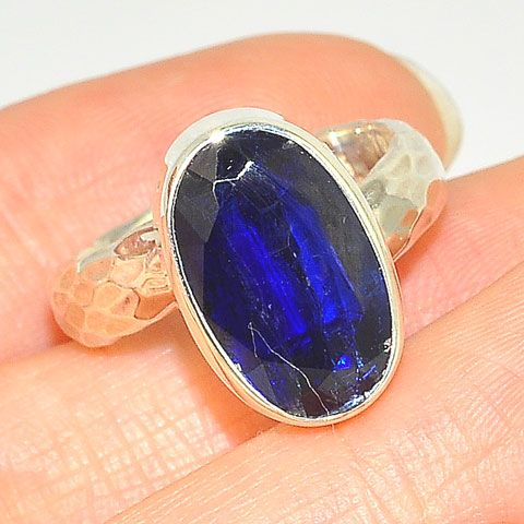 Sterling Silver Kyanite Oval Ring