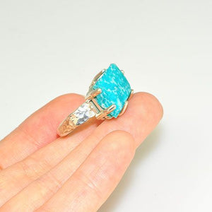 Sterling Silver Rough Amazonite Ring