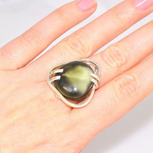 Sterling Silver Baltic Amber Ring