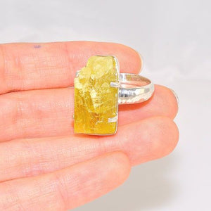 Sterling Silver Citrine Crystal Ring