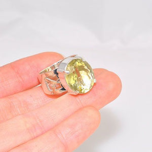 Sterling Silver Citrine Oval Ring