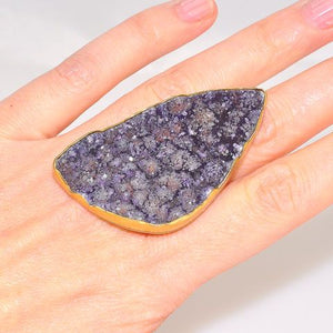 Charles Albert Alchemia Purple Agate Druzy Ring