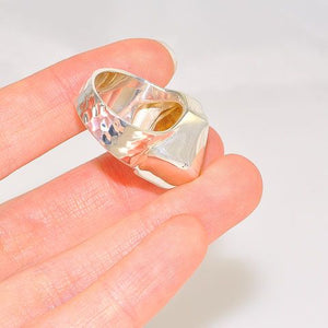Sterling Silver Rutilated Quartz Chunky Ring