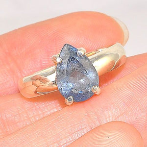 Sterling Silver Iolite Raindrop Ring