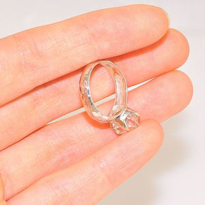 Sterling Silver Clear Quartz Ring