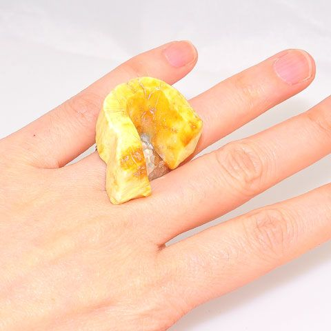 Sterling Silver Fossil Walrus Ivory Ring