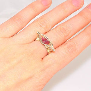Sterling Silver Ruby Cage Ring