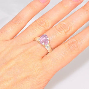 Sterling Silver Pink Kunzite Nugget Ring