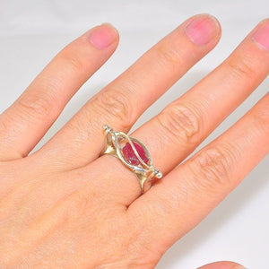 Sterling Silver Ruby Nugget Cage Ring