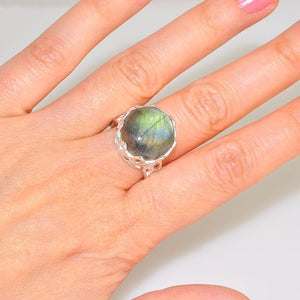Sterling Silver Majestic Labradorite Gemstone Ring