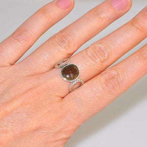 Sterling Silver Watermelon Tourmaline Gemstone Classic Ring