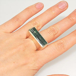 Sterling Silver Green Tourmaline Ring
