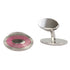 Ellipse Pink Enamel British Made Cufflinks