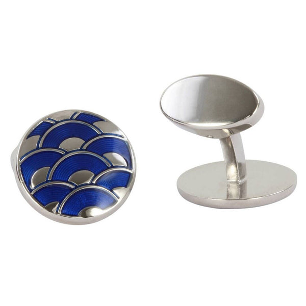Oscar Electric Blue Enamel British Made Cufflinks