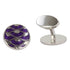 Oscar Purple Enamel British Made Cufflinks