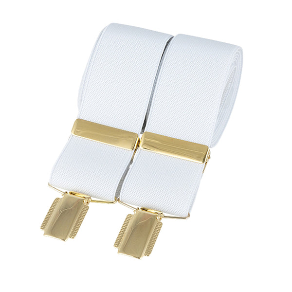 Churchill White Gold Clip Braces