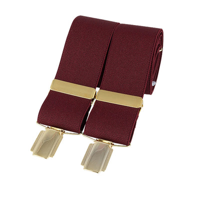 Churchill Burgundy Gold Clip Braces