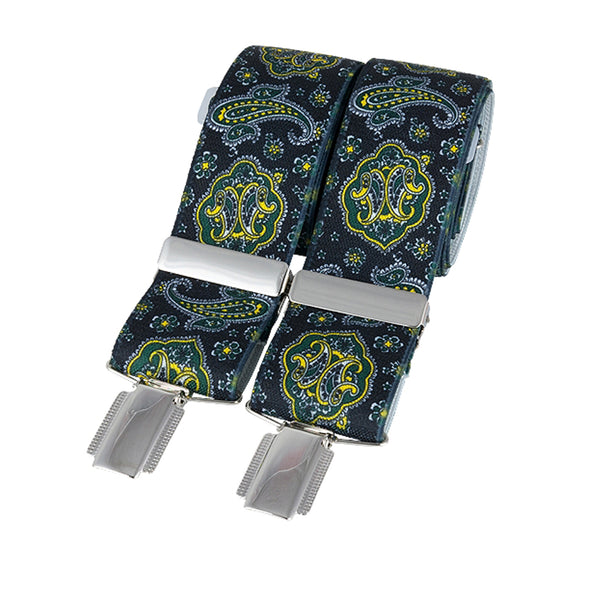 Purely Paisley Black Braces