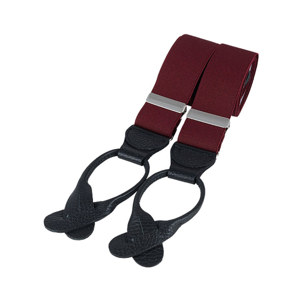 Gatsby Burgundy Leather End Braces