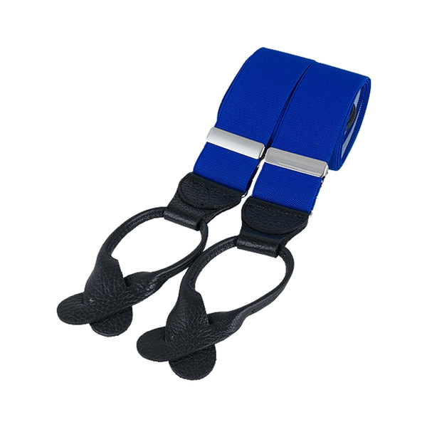 Gatsby Royal Blue Leather End Braces