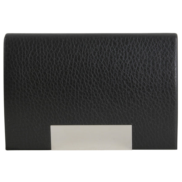 Personalised Silas Black Business Card Holder