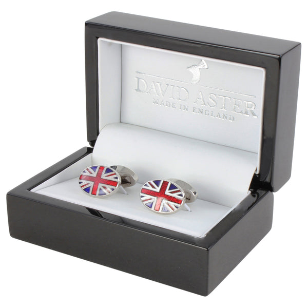 Oscar Black Enamel British Made Cufflinks