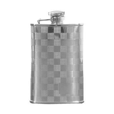 Rufus Chequered Hip Flask