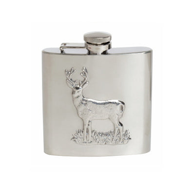 Royal Hart Stag Embossed Hip Flask