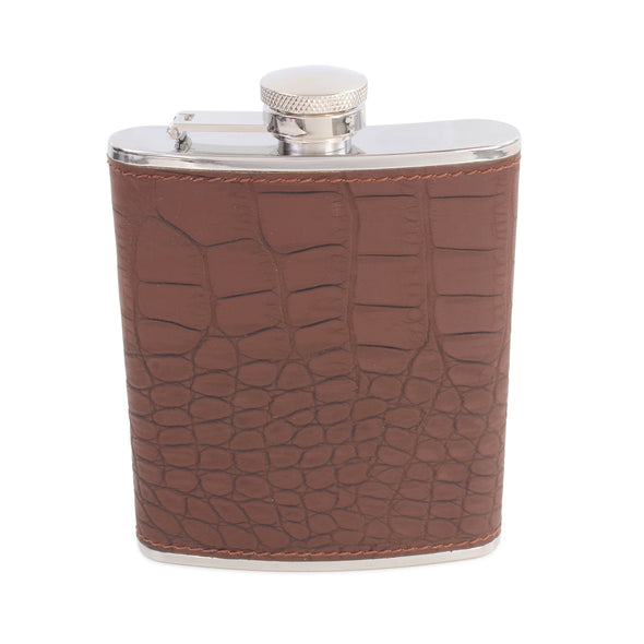 Elias Brown Croc Hip Flask