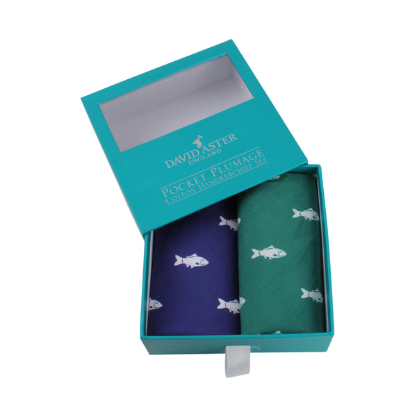 Gone Fishing Handkerchief Set