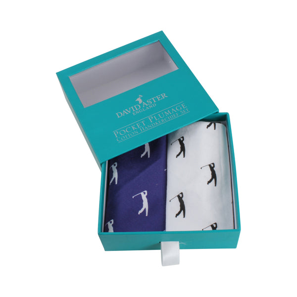 Hole in One Golfing Handkerchief Set