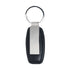 Black Leather Engravable Key Ring