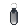 Black Leather Brushed Finish Engravable Key Ring