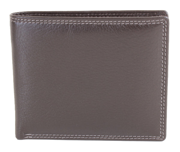 Edwin Classic Brown Leather RFID Wallet