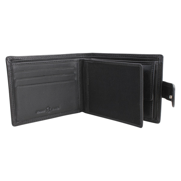 Nero Black RFID Lined Leather Wallet