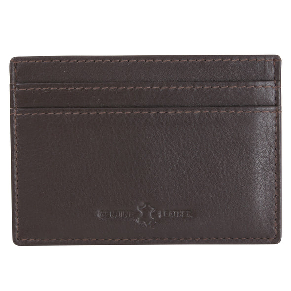 Amos Brown RFID Lined Leather Credit Card Holder