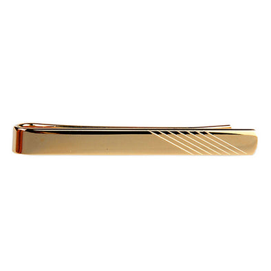 Personalised Classic Gold Lined Tie Slide