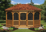 Oval Wood Gazebo