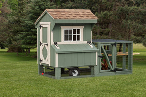 Quaker Tractor with Wheels Chicken Coop