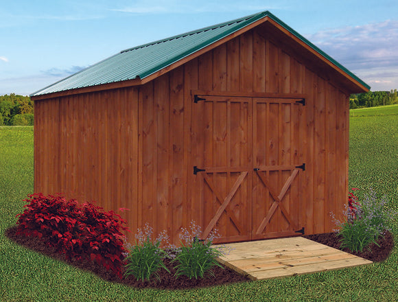 Board & Batton Classic A Frame Storage Shed