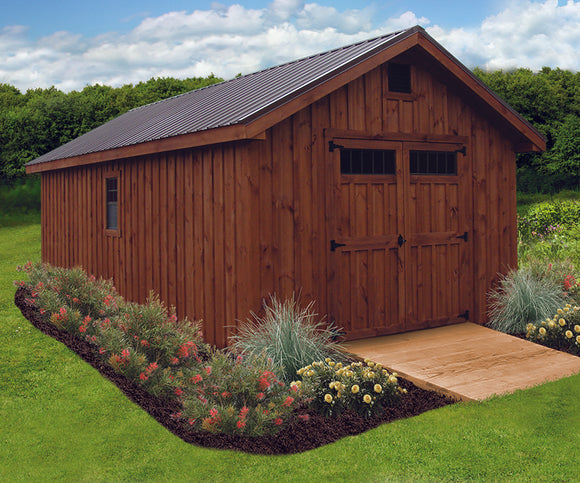 Board & Batton New England Elite Storage Shed