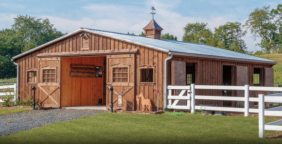 Low Profile Horse Barns