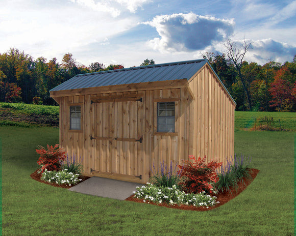 Board & Batton Quaker Barn Storage Shed
