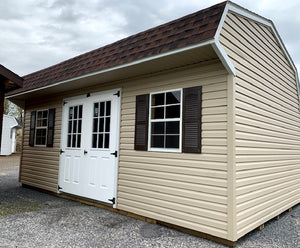 12X20 Dutch Colonial Vinyl Silver Line Shed