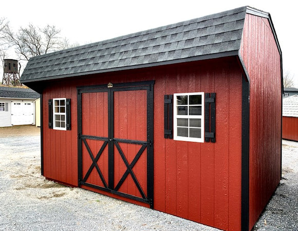 10X16 Dutch Colonial Silver Line Shed