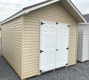 10X14 Classic A Frame Vinyl Silver Line Shed